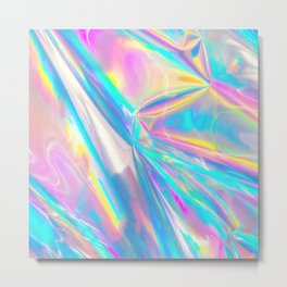 Holographic Foil Love Metal Print