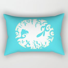 Abstractly Blue  Rectangular Pillow