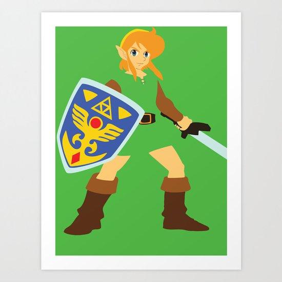 Link - The Legend of Zelda - Minimalist - Nintendo Art Print