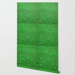 Bright Green Glitter Wallpaper