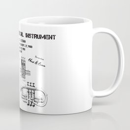 Valve musical instrument patent art Coffee Mug
