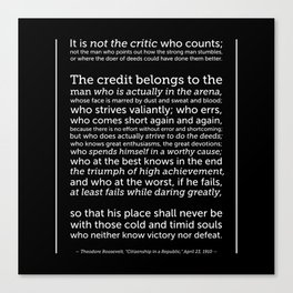 Daring Greatly Quote Canvas Print