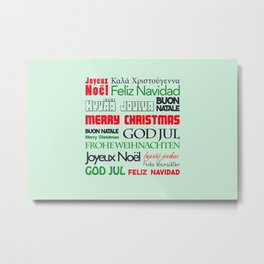different languages III merry christmas Metal Print