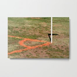Orange Soccer Corner Metal Print