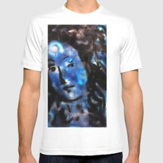 VENUS IN BLUE White Mens Fitted Tee SMALL