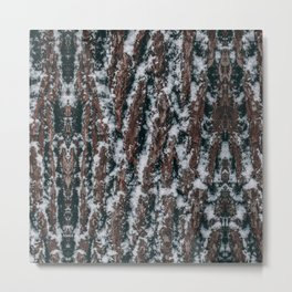 snow wood bois tree texture wood nature print Metal Print