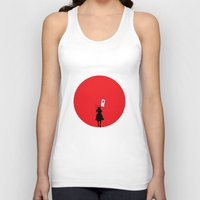 japan Tank Tops featuring Japan by bluedox