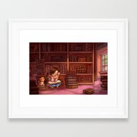 library Framed Art Prints featuring Library by Dani Jones
