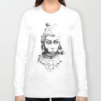 hindu Long Sleeve T-shirts featuring Hindu deity by ZUBNORMAL