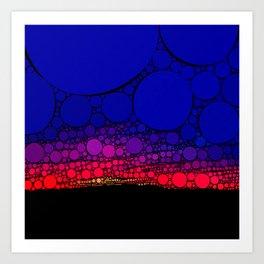 Abstract Sunset Art Print