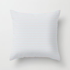 Bubblegum Chevrons by Squibble Design Throw Pillow