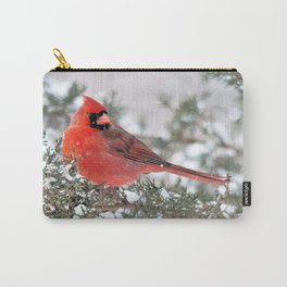 Winter's Beauty Cardinal Carry-All Pouch