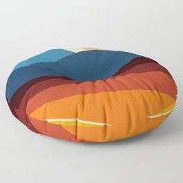 COLORFUL ABSTRACT LANDSCAPE ILLUSTRATION Floor Pillow