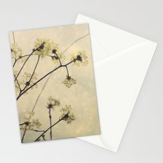 Spring Branches in White Botanical Stationery Cards