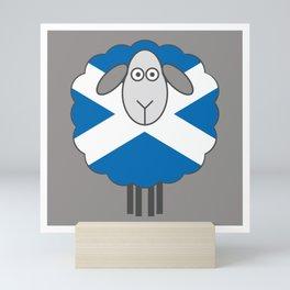 Scottish Saltire Flag Patterned Sheep Mini Art Print