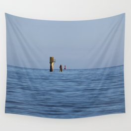 At the sea Wall Tapestry