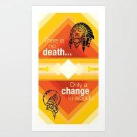 native american Art Prints featuring Native American by Chris Cammarota