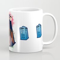 amy pond Mugs featuring Doctor Who - Amy Pond by Lucy Fidelis