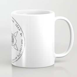 A Ward Against Being Seen By Narcissist (black ink) Coffee Mug