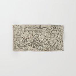 Vintage Map of Virginia (1651) Hand & Bath Towel