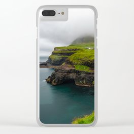 Gásadalur waterfall in Faroe islands Clear iPhone Case