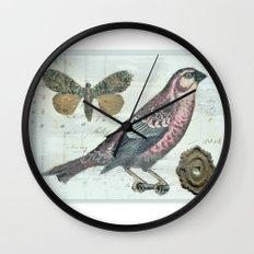 Vintage boho and bird Wall Clock