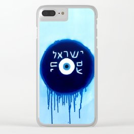 Nazar Ayin Blue Shift (We Lived, B****) Clear iPhone Case