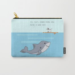 Shark practicing yoga pose Carry-All Pouch