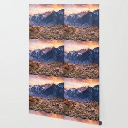 Mount Whitney and Alabama Hills Sunset Wallpaper