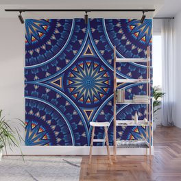 Blue Fire Keepers Wall Mural