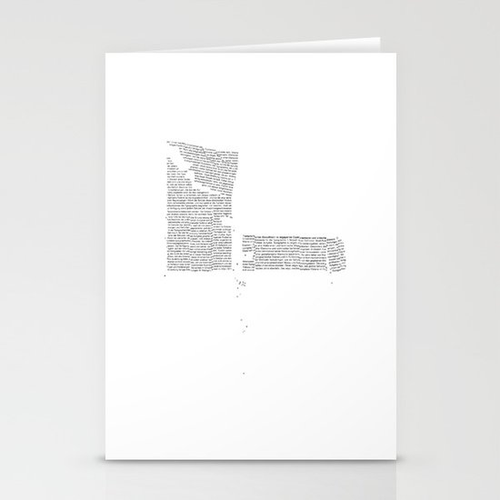 Erosion & Typography 4 Stationery Cards