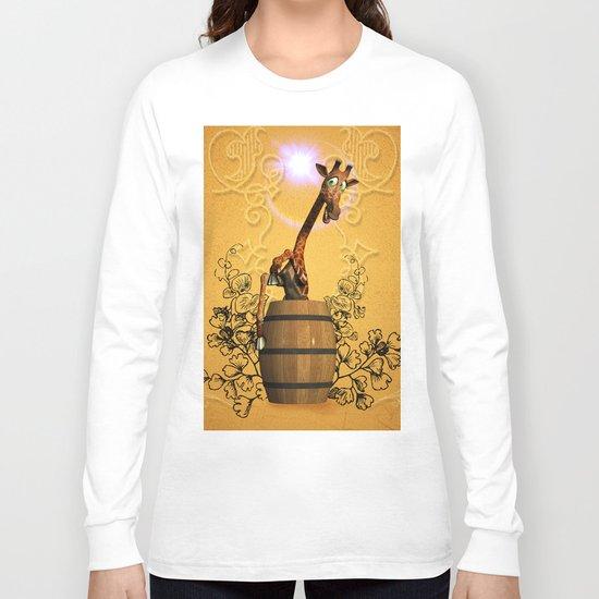 Funny, sweet giraffe Long Sleeve T-shirt