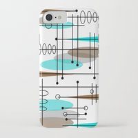 mid century modern iPhone & iPod Cases featuring Mid-Century Modern Atomic Inspired by Kippygirl