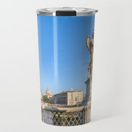 Angel with the Crown of Thorns at the Sant'Angelo bridge - Rome, Italy Travel Mug