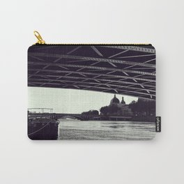 Under the bridge - Rhone river in Lyon, Fine Art Photography Carry-All Pouch