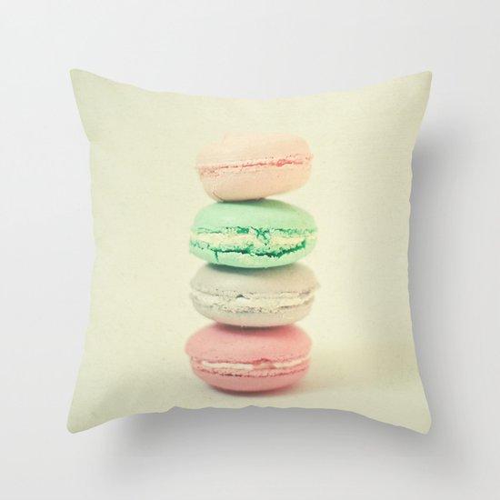 Four Macarons Throw Pillow