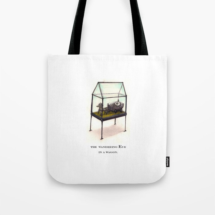 the wandering Eye in a wagon Tote Bag