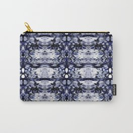 Modern Bohemian Indigo Blue Pattern Carry-All Pouch