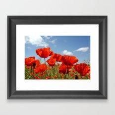 Fields of Poppy Happiness Framed Art Print