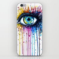 "hell iPhone & iPod Skins featuring ""Rainbow Eye"" by PeeGeeArts"