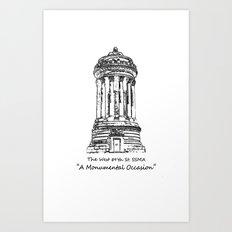 Monument 2 Art Print