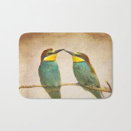 Love time. Bee-eaters Bath Mat