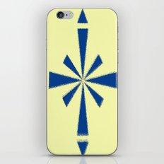Blue Asterisk iPhone & iPod Skin