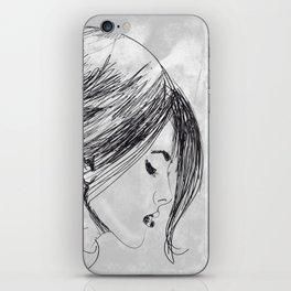 Hand drawn beautiful woman iPhone Skin