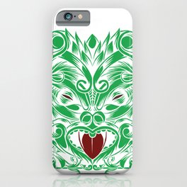 Traditional Maori Tribal Mask Design iPhone Case