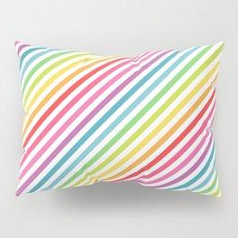 Rainbow Geometric Striped Pattern Pillow Sham