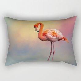 American Flamingo Rectangular Pillow