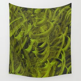 Pellucidar Sap Green Abstract Wall Tapestry