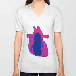 Vacant Heart Unisex V-Neck