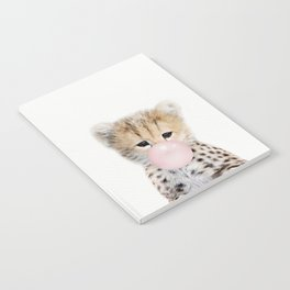 Bubble Gum Cheetah Cub Notebook